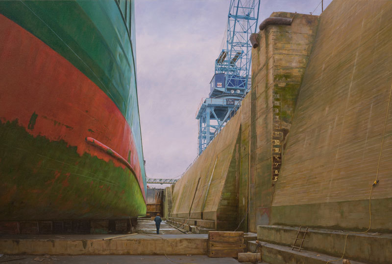 The Arklow Sand at Dublin Port Graving Docks
