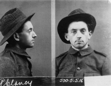 Fear or defiance? The mugshot of Peadar Clancy